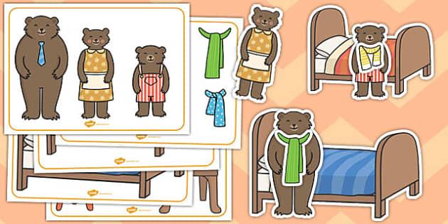 Goldilocks the Three Bears Size Ordering Pictures - goldilocks