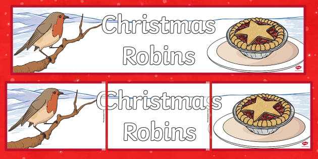 Christmas Robins Banner - Robin, Christmas robin, Christmas, Waitrose advert, banner, display