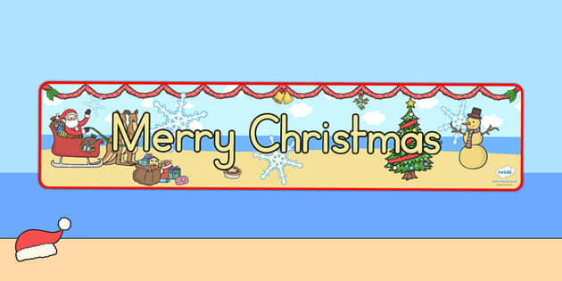 Australia Christmas Display Banner Merry Christmas - christmas, banner