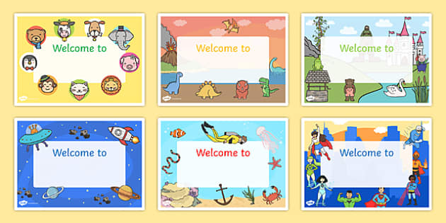 Welcome Signs - editable signs, welcome signs, signs and labels, welcome to our classroom, welcome to our school, make your own welcome signs