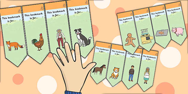 The Gingerbread Man Editable Bookmarks - bookmark, edit, tales