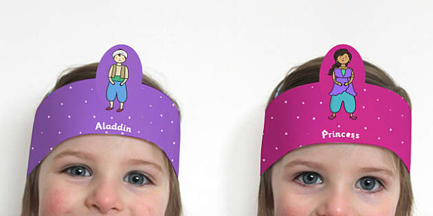 Aladdin Role Play Headbands - stories, roleplay, traditional tale