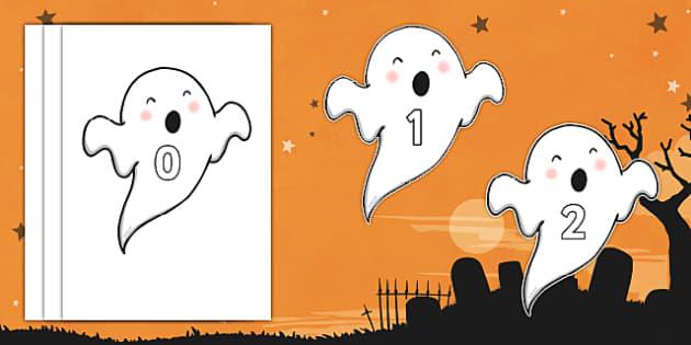 Halloween Ghosts 0-30 Display Numbers