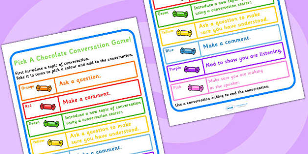 Conversation Practise Pick A Sweet Colour Game - games, SEN games