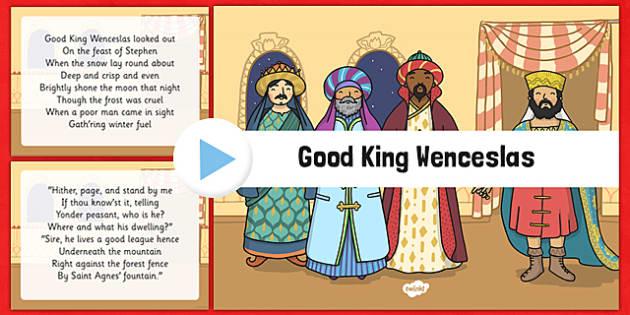 Good King Wenceslas Christmas Carol Lyrics PowerPoint - good king wenceslas, christmas carol