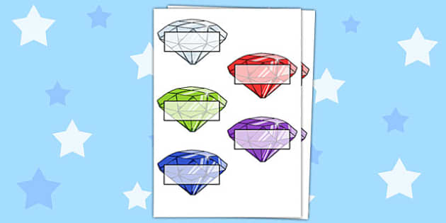 Gemstone Self-Registration - gems, gemstones, treasure, pirates, fantasy, diamonds, crystals, magic, register, registration