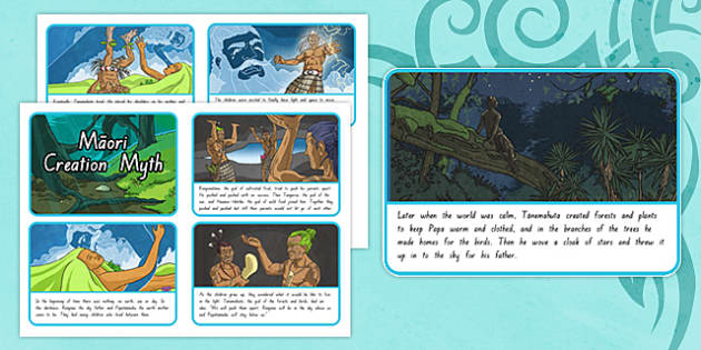 Māori Creation Story Sequencing Cards