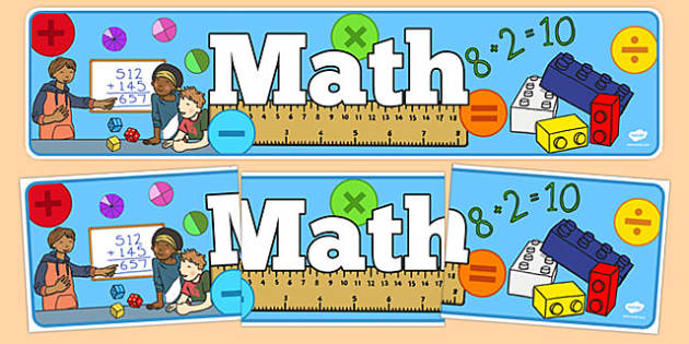 Math Display Banner - usa, america, math, display banner, display, banner