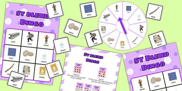 St Spinner Bingo - st sound, spinner bingo, spinner, bingo, activity