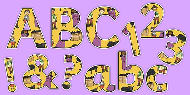 Baa, Baa, Black Sheep Display Letters and Numbers Pack