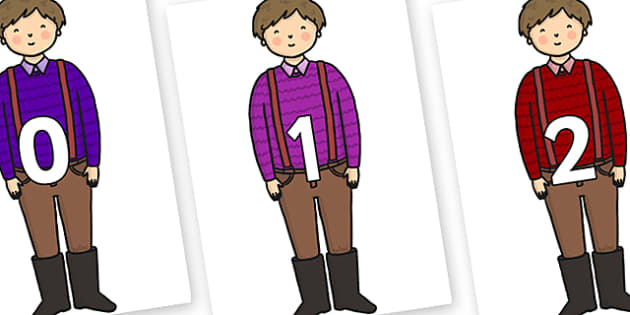 Numbers 0-31 on Rapunzels Father - 0-31, foundation stage numeracy, Number recognition, Number flashcards, counting, number frieze, Display numbers, number posters