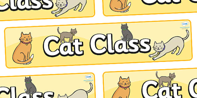 Cat Themed Classroom Display Banner - Themed banner, banner, display banner, Classroom labels, Area labels, Poster, Display, Areas