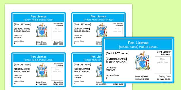 Australian Pen Licences Victoria Editable Proforma
