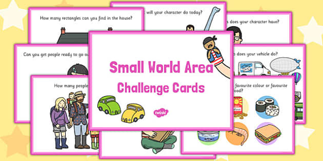 Small World Area Challenge Cards - challenge cards, small world
