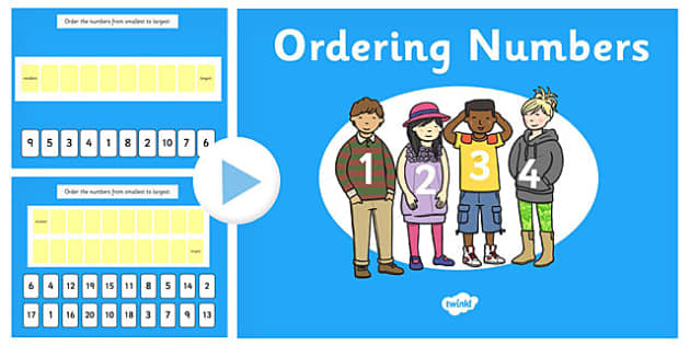 Ordering Numbers 0 10 and 0 20 PowerPoint - order, number