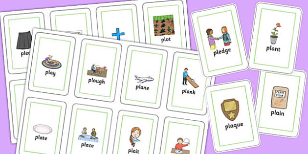 PL Sound Flash Cards - pl sound, flash cards, pl, sound, flashcards