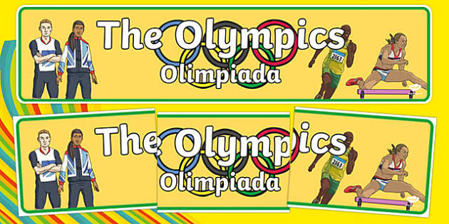 The Olympics Display Banner Polish Translation - Olympics, Olympic Games, sports, Olympic, London, 2012, display, banner, poster, sign, Olympic torch, flag, countries, medal, Olympic Rings, mascots, flame, compete, tennis, athlete, swimming, race, ,