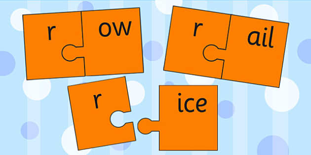 r And Vowel Production Jigsaw Cut Outs - r, vowel, jigsaw, sounds