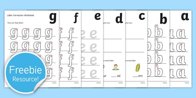 a z Letter Formation Activity Sheets az a z letter – Letter Formation Worksheets
