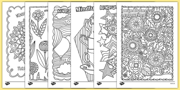 Adult Colouring Mindfulness Colouring Sheets Pack - mindfulness, adult colouring