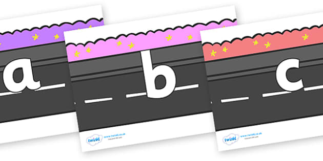Phase 2 Phonemes on Roads - Phonemes, phoneme, Phase 2, Phase two, Foundation, Literacy, Letters and Sounds, DfES, display