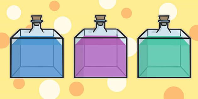 Editable Perfume Bottles - editable, perfume, bottles, display