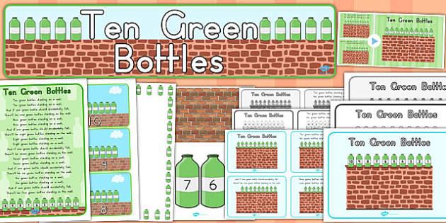 Ten Green Bottles Resource Pack - australia, bottles, pack, ten