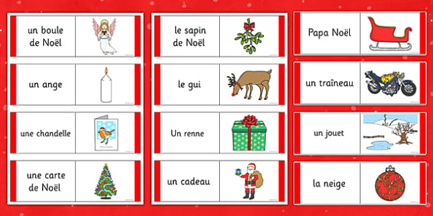 Christmas Loop Cards French - french, christmas, loop cards, loop, cards, activity, game