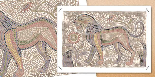 Roman Mosaic Large Display Poster - large, display, poster, roman, mosaic