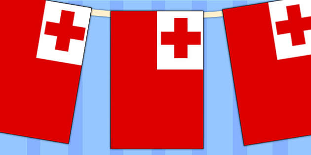 Tonga Flag Display Bunting - country, geography, commonwealth