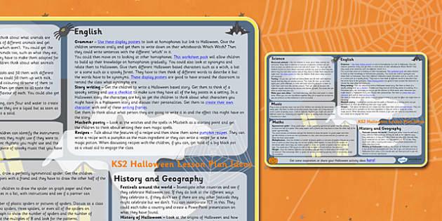 Halloween Lesson Plan Ideas KS2 - halloween, lesson plans, lesson plan ideas, KS2, key stage two key stage 2, key stage 2 lessons, lesson ideas, KS2 lesson