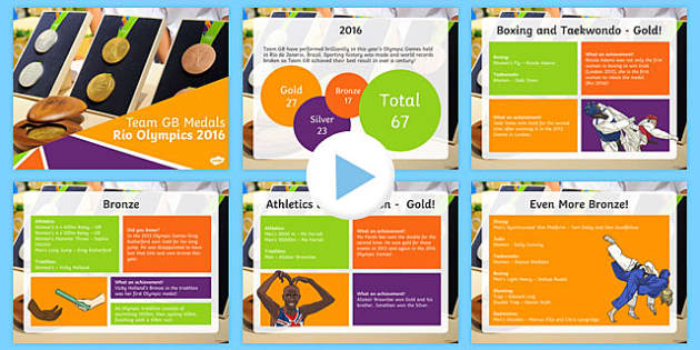 Team GB Medals Rio Olympics 2016 PowerPoint