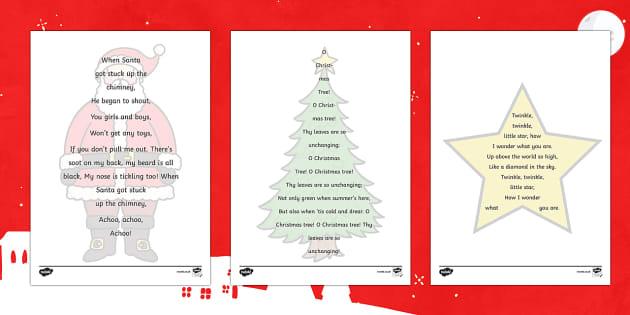 Christmas Calligram Writing Frames - Christmas, Nativity, Jesus, xmas, Xmas, Father Christmas, Santa, St Nic, Saint Nicholas, traditions, calligrams
