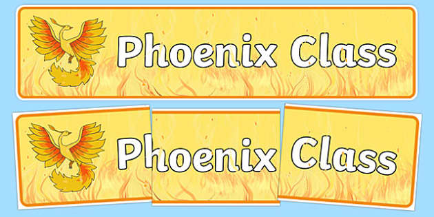 Phoenix Themed Classroom Display Banner - Themed banner, banner, display banner, Classroom labels, Area labels, Poster, Display, Areas