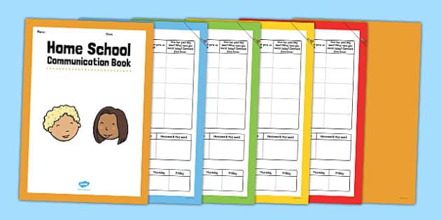 Home School Communication Book Conversation Starter - home school, communication, book, conversation, starter