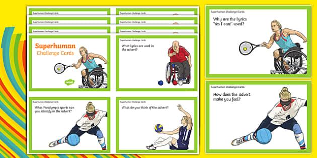 Superhumans Question Challenge Cards