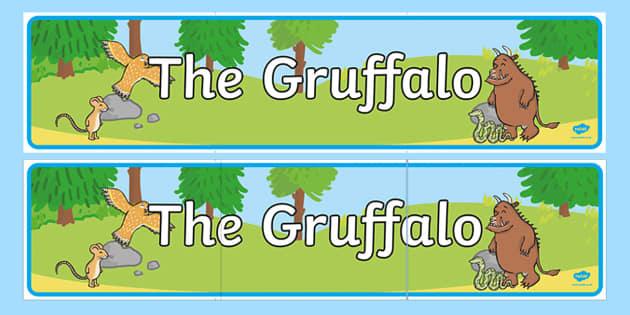The Gruffalo Display Banner - australia, gruffalo, display, banner