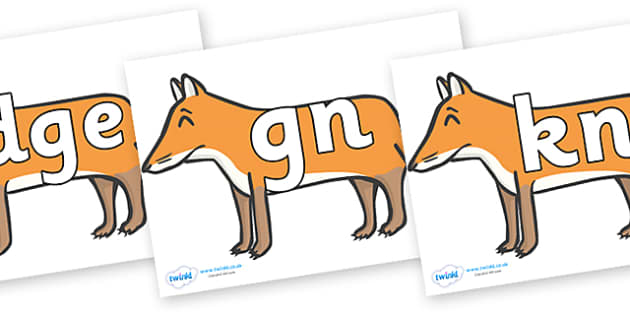 Silent Letters on Foxes - Silent Letters, silent letter, letter blend, consonant, consonants, digraph, trigraph, A-Z letters, literacy, alphabet, letters, alternative sounds