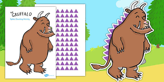 The Gruffalo's Spikes Counting Activity - gruffalo, spikes, counting