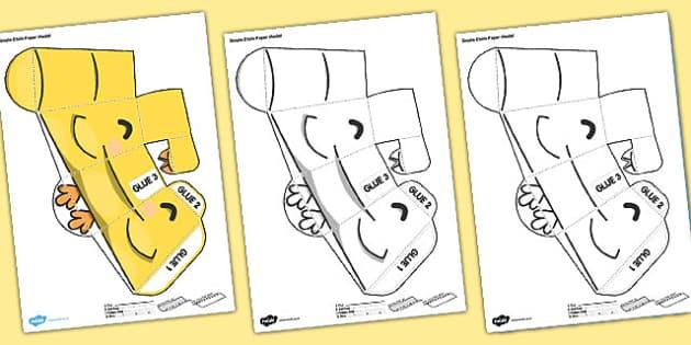 Simple Chick Paper Model - simple, chick, paper, model, craft