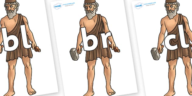 Initial Letter Blends on Hephaestus - Initial Letters, initial letter, letter blend, letter blends, consonant, consonants, digraph, trigraph, literacy, alphabet, letters, foundation stage literacy