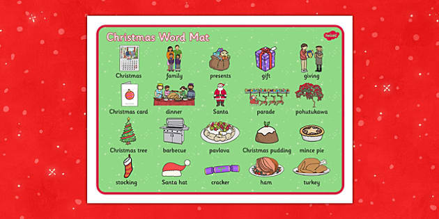 Christmas Word Mat NZ - nz, new zealand, christmas, word mat, word, mat