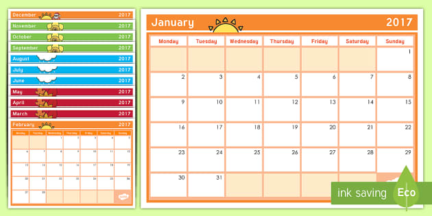 New Zealand School Year Calendar 2017 - New Zealand Class Management, calendar, year, new year, new term, nz