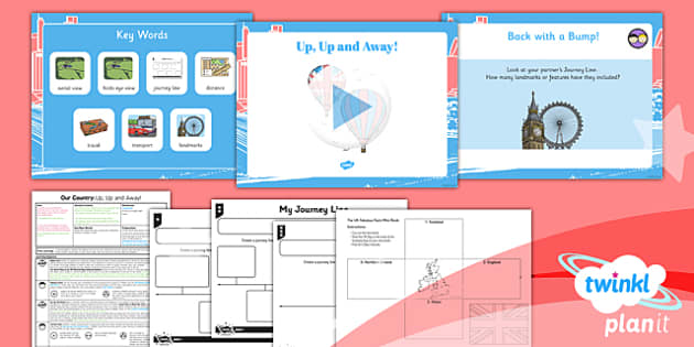 PlanIt - Geography Year 1 - Our Country Unit Lesson 3: Up, Up and Away! Lesson Pack