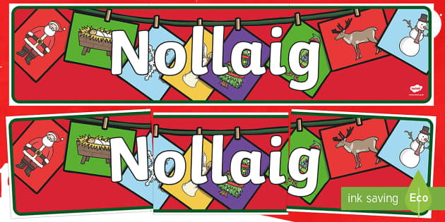 CfE Christmas (Santa) Display Banner Scottish Gaelic Display Banner-Scottish