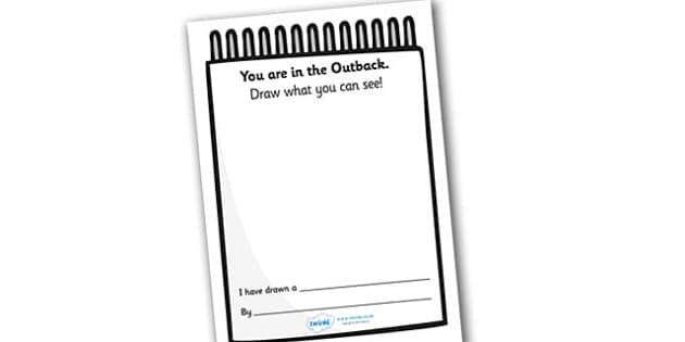 Outback Explorer Role Play Observation Sketch Pad - outback explorer, outback explorer sketchpad, observation sketch pad, roleplay, roleplay sketchpad