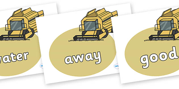 Next 200 Common Words on Combine Harvesters - Next 200 Common Words on  - DfES Letters and Sounds, Letters and Sounds, Letters and sounds words, Common words, 200 common words