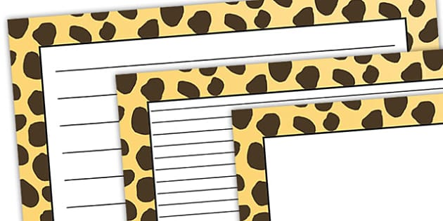 Cheetah Pattern Landscape Page Border - safari, safari page borders, cheetah page borders, cheetah pattern page borders, safari animal pattern page borders