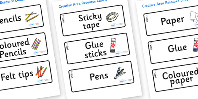 Heron Themed Editable Creative Area Resource Labels - Themed creative resource labels, Label template, Resource Label, Name Labels, Editable Labels, Drawer Labels, KS1 Labels, Foundation Labels, Foundation Stage Labels