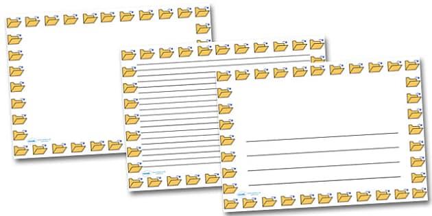 Open Folder Landscape Page Borders- Landscape Page Borders - Page border, border, writing template, writing aid, writing frame, a4 border, template, templates, landscape